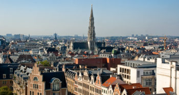 Panorama view of Brussels,Capital of Europe