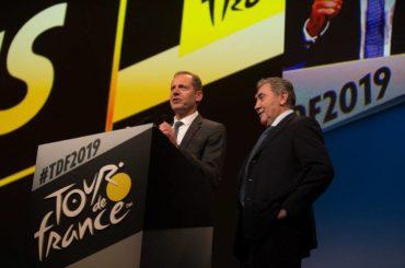 Présentation du parcours du Tour de France 2019 - Christian Prudhomme, Directeur du Tour de France et Eddy Merckx © A.S.O./T.Maheux